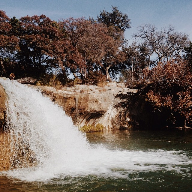 Nice day to hike #Crawford #Texas #waterfall